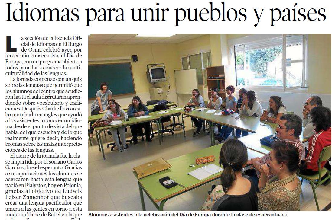 Reportaje en Heraldo de Soria