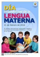 Cartel del Dia de la Lengua Materna 2016