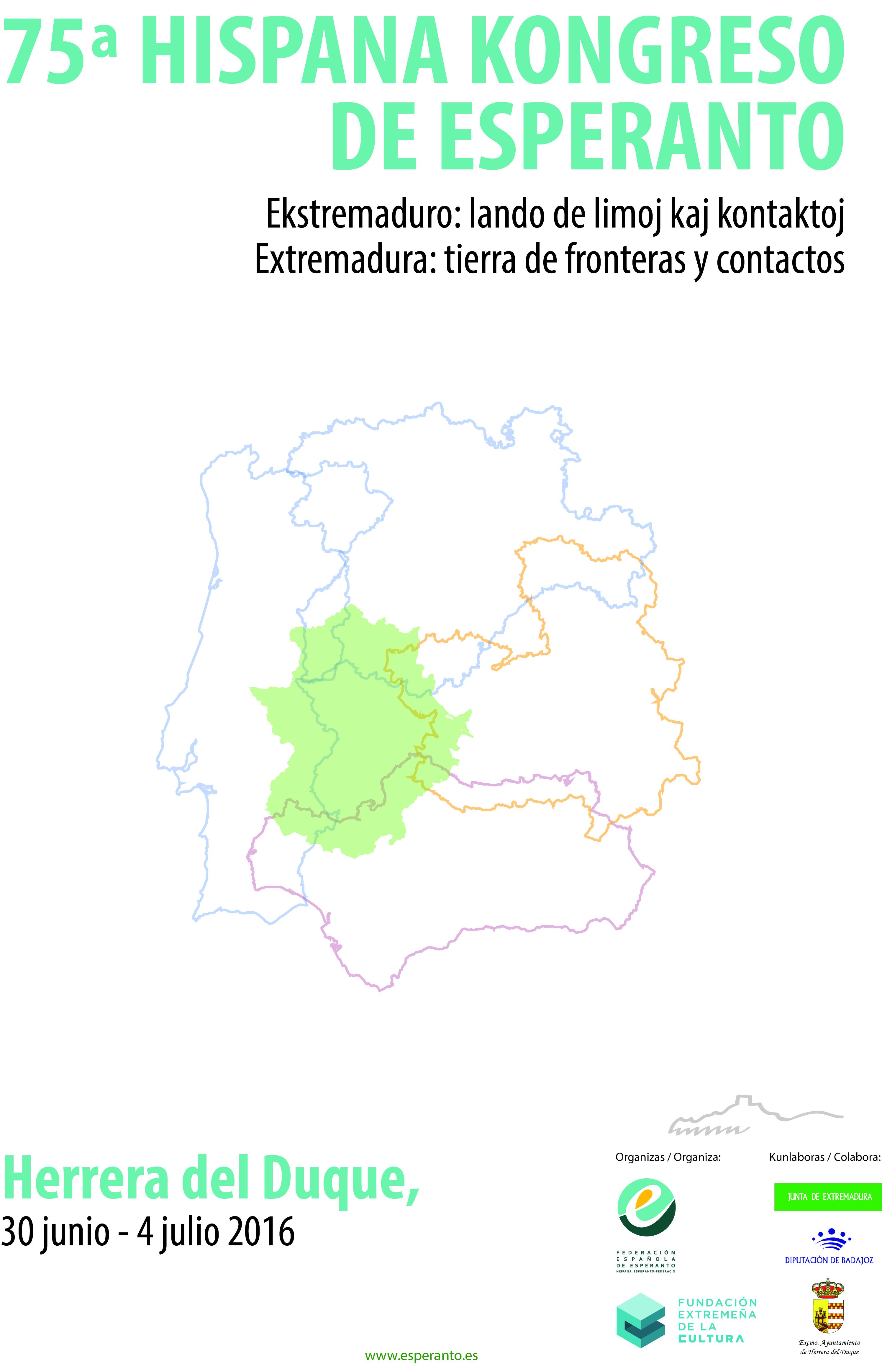 Cartel del Congreso de Esperanto en Herrera