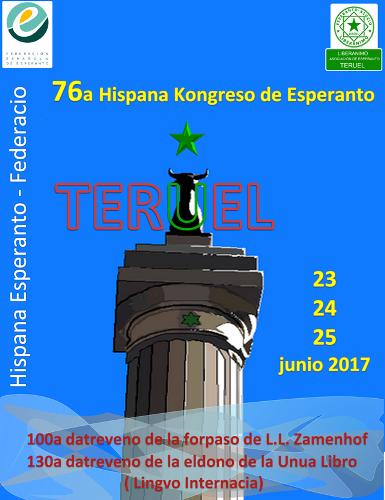 76ème Congrès Espagnol d'Espéranto, Teruel, 23-25 juin 2017