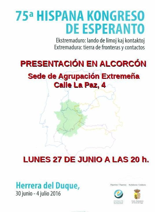 Cartel de presentación del Congreso en Madrid