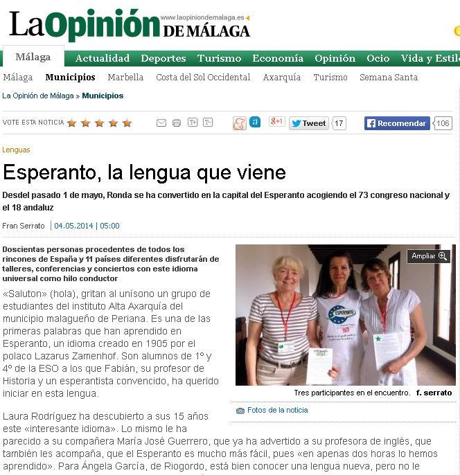 Reportaje en La Opinión de Málaga